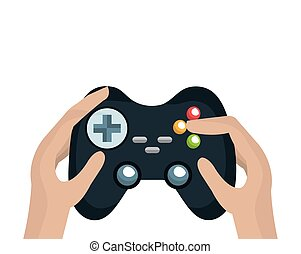control player videogame - hand holding a control player...