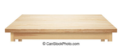 wooden table top - Light wooden table top on white...