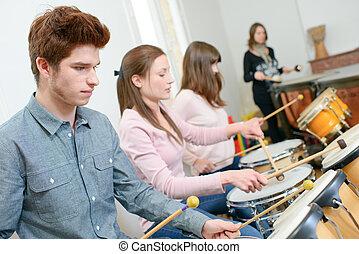 Percusión, lección