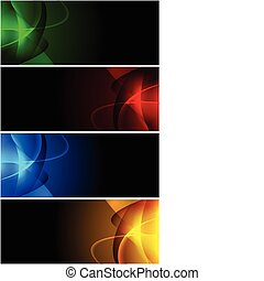 Abstract dark banners