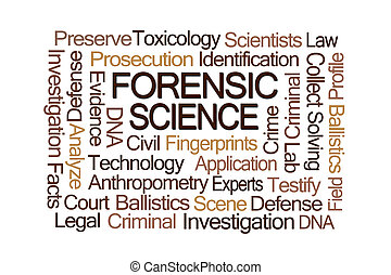 Forensic Science Word Cloud