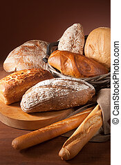 assortment of baked bread - still-life assortment of baked...