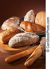 assortment of baked bread - still-life assortment of baked...