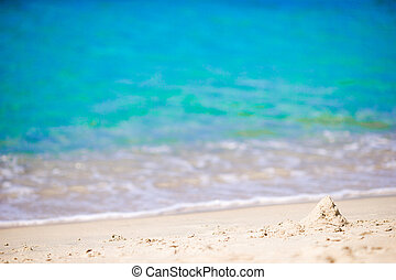 Turquiose water and white sand on one of the european...