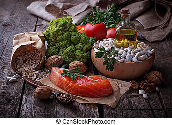 Concept of healthy food for heart