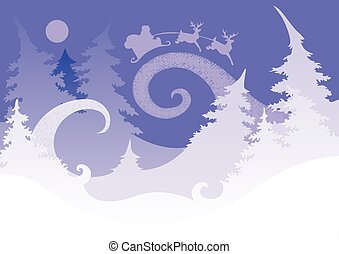 Christmas header - Image magic night before Christmas, which...