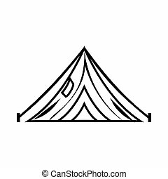 Tent icon, outline style