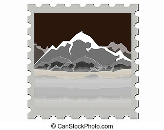mountain stamp