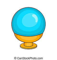 Magic ball icon in cartoon style - icon in cartoon style on...