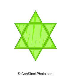 Star of David icon, cartoon style - Star of David icon in...