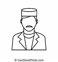 Doctor icon, outline style - Doctor icon in outline style...