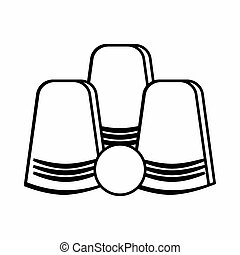 Focus of inverted glasses icon, outline style - Focus of...