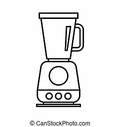 Food processor, mixer, blender icon, outline style