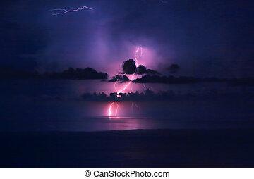 Beautiful lightning landscape - Beautiful dramatic...