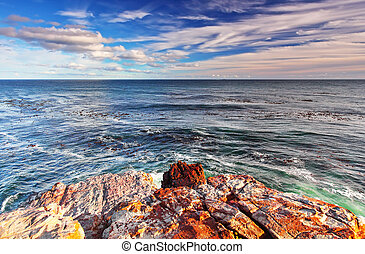 Cape of Good Hope - Rocky landscape on the Atlantic coast of...