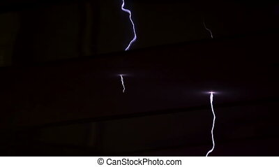 High voltage electrical discharge generated in a lab