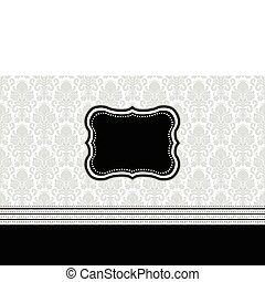 Vector Striped Pattern and Frame