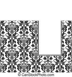 Vector Floral Banner Frame
