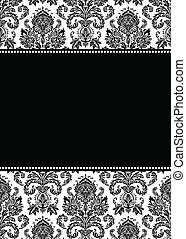 Vector Tall Damask Frame - Vector damask frame. Easy to...