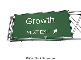 growth road sign