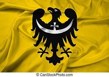Waving Flag of Lower Silesian Voivodeship, Poland