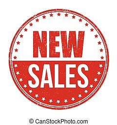 New sales stamp - New sales grunge rubber stamp on white...
