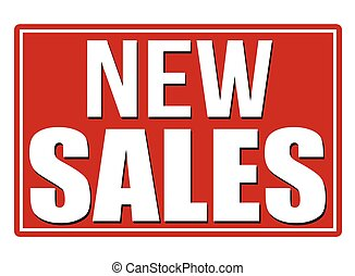 New sales sign - New sales red sign on white background,...