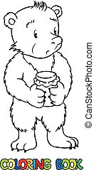 Coloring book of lttle funny bear