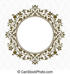 Vector Gold Floral Frame