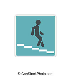 Underpass road sign icon in flat style - icon in flat style...