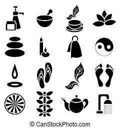 Spa icons set, simple style - Simple spa icons set Universal...