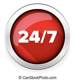 Twenty four seven icon open