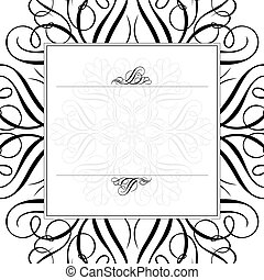 Vector Ornament and Matching Frame - Vector ornaments and...