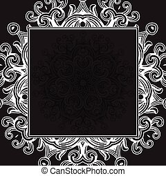 Vector Black Gothic Frame