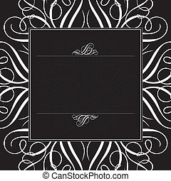 Vector Black Ornament Frame