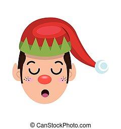 santa helper elf cartoon