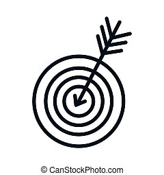round target with arrow