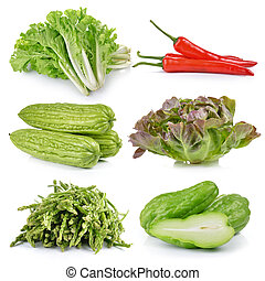 asparagus, apple, Chayote, Momordica charantia, Green Oak,...