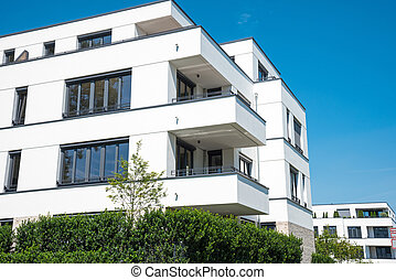 New white apartment house in Berlin - New white apartment...