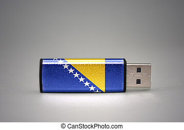 usb flash drive with the national flag of bosnia and...