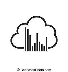 cloud computing data center isolated icon
