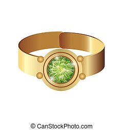 gold ring with gem - Jewelry Gold ring with precious gem...