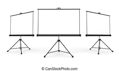 projection screen concept 3d illustration