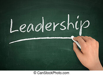 leadership chalkboard write concept 3d illustration