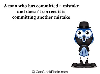 Committing another mistake - Man committing a mistake...
