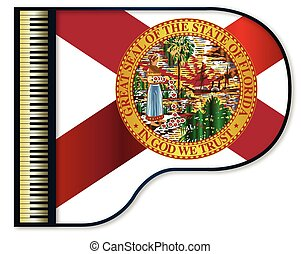 Grand Piano Florida Flag - The Florida flag set into a...