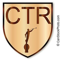 CTR Wooden Shield - A wooden Mormon LDS CTR choose the right...