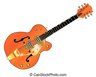 Orange Country and Western Guitar - A typical country and...
