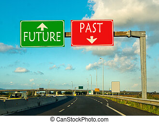 past or future, the choice of this day - past or future go...