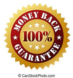money back guarantee badge concept 3d illustration